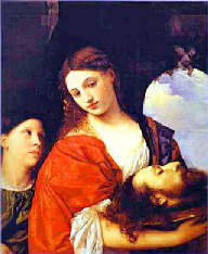 Painting of Salome holding John the Baptist\