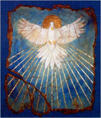 devotional dove as Holy Spirit
