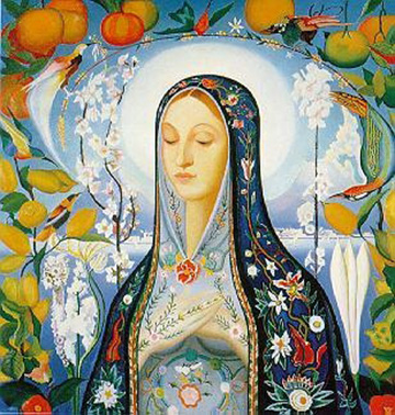 Devotional picture of Mary