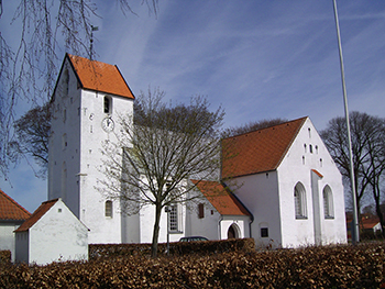 Beautiful white church in Nibe