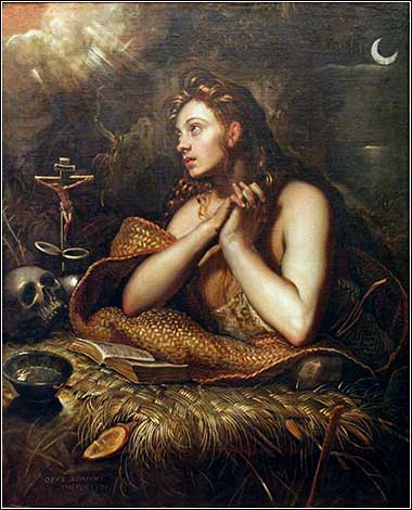 <i>The Penitent Magdalene</i>, by Domenico Tintoretto, ca. 1570.
