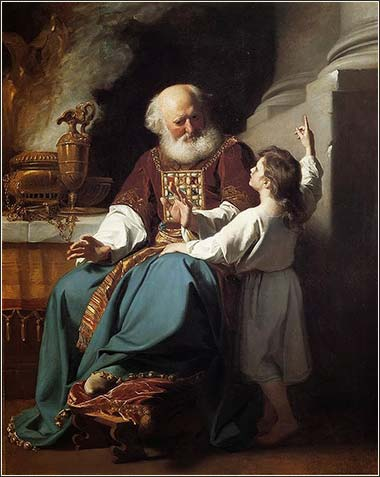 <i>Samuel Relating to Eli the Judgments of God upon Eli's House</i>, by John Singleton Copley, ca. 1780.