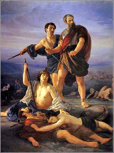 <i>Death of King Saul</i>, by Elie Marcuse, 1848.