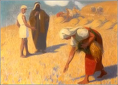 <i>Ruth Gleaning Wheat</i>, by Gebhard Fugel, ca. 1922.