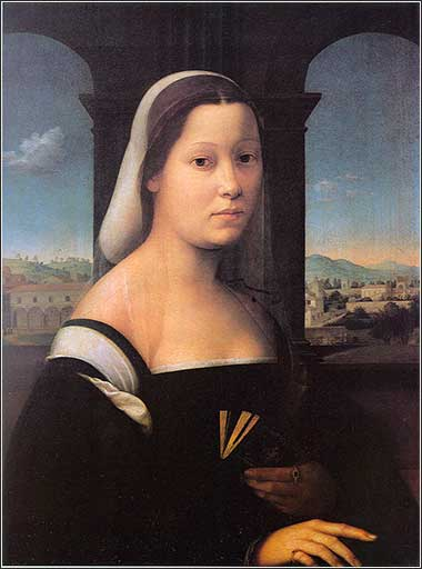 "<i>Portrait of a Woman, ""The Nun,""</i> by Giuliano Bugiardini, ca. 1506."