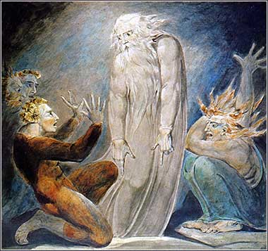 <i>The Witch of Endor</i>, by William Blake, ca. 1800.