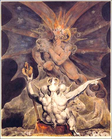 <i>The Number of the Beast is 666,</i> by William Blake, ca. 1810
