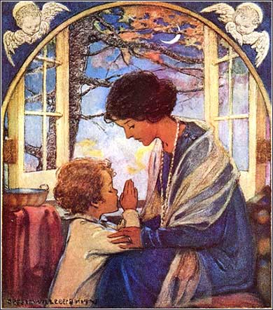 <i>A Child's Prayer,</i> by J. W. Smith, ca. 1925.
