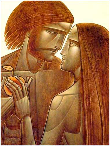 <i>Adam and Eve,</i> by Lyuba Yatskiv, ca. 2005.