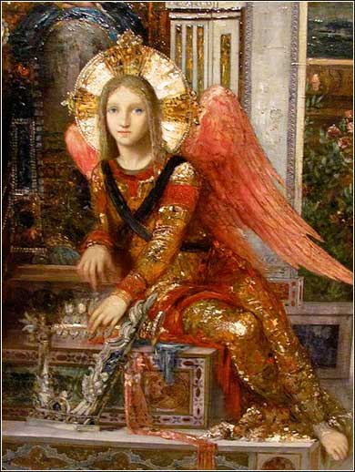 Angel by Gustave Moreau, ca. 1890.  (Detail from <i>King David.</i>)
