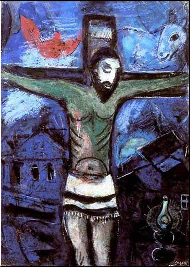 <i>Christ in the Night,</i> by Marc Chagall, ca. 1948.