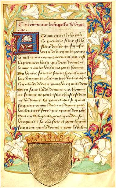 Page from a French prayer book, c. 1600.
