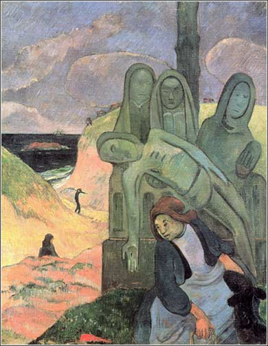 <i>Breton Calvary,</i> by Paul Gaugin, ca. 1889.