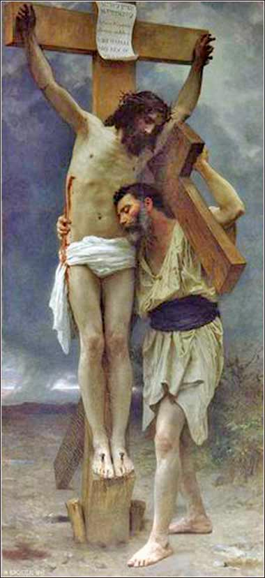 <i>Pick Up Your Cross,</i> by Wm. Adolphe Bouguereau, ca. 1880.