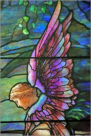 Tiffany Studios | Frederick Wilson, designer | Resurrection (detail), Brydon Memorial Window, before 1910 | Leaded glass | St. John
