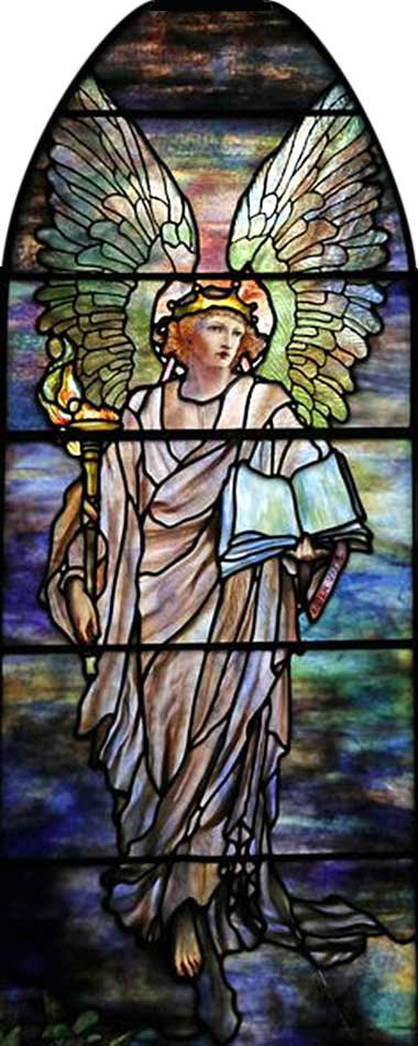 <i>Jacob and Two Angels</i> Tiffany window in St. Johns Church, Franklin, PA