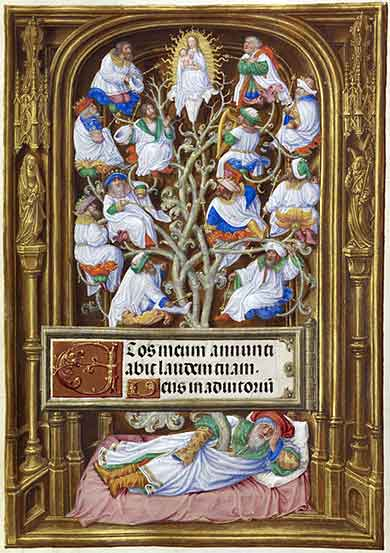 "Tree of Jesse by ""Master of James IV of Scotland,"" circa 1500"