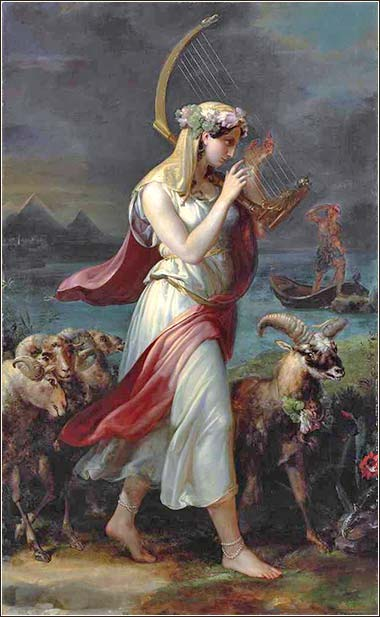 <i>Israelite Shepherdess in the Land of Goshen</i>, by Wilhelm Hensel, ca. 1840.