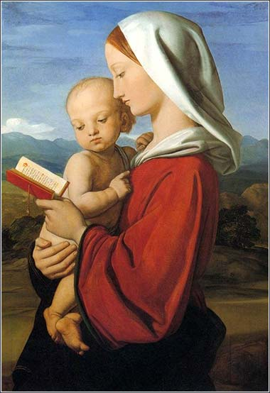 <i>Virgin and Child</i>, by William Dyce, ca. 1845.