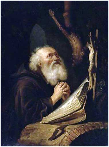 <i>A Hermit at Prayer</i> after Gerrit Dou, ca. 1725.