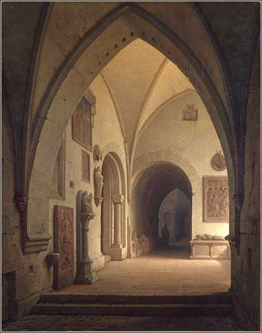 <i>Interior of a Church</i> by Max Emanuel Ainmiller, ca. 1860.