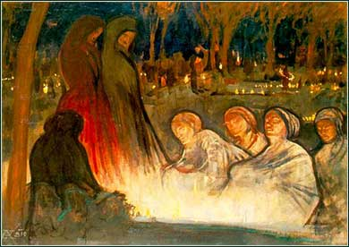 <i>All Souls Day</i> by Aladar Korosfoi-Kriesch, ca. 1910.