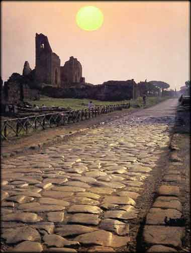 The Appian Way as it appears today.