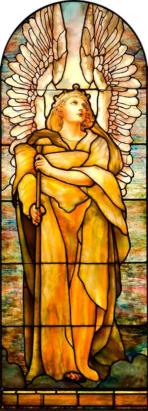 tiffany angel stained glass