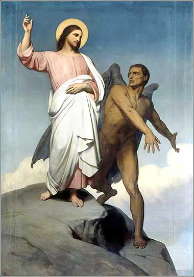 <i>The Temptation of Christ</i> by Ary Scheffer, ca. 1854.