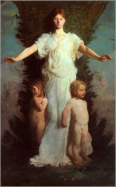 <i>Caritas (Christian love)</i> by Abbott Handerson Thayer ca. 1895