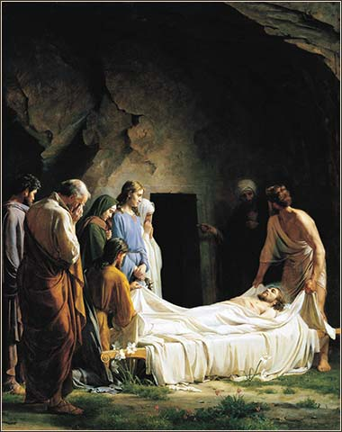 <i>The Burial</i> by Carl Heinrich Bloch, ca. 1873.