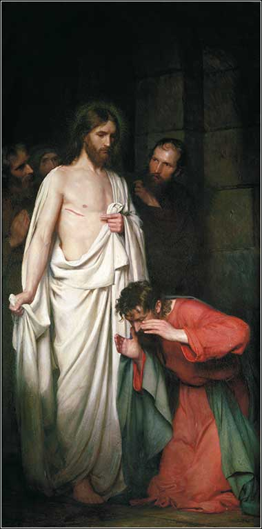 <i>The Doubting Thomas</i> by Carl Heinrich Bloch, ca. 1881.