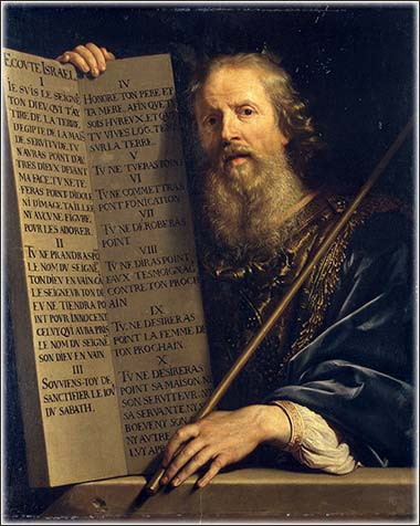 <i>Moses with the Ten Commandments</i> by Phillipe de Champaigne ca. 1648