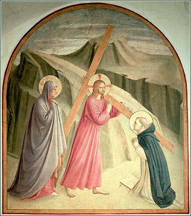 <i>Christ Carrying the Cross</i> by Fra Angelico, c. 1438.