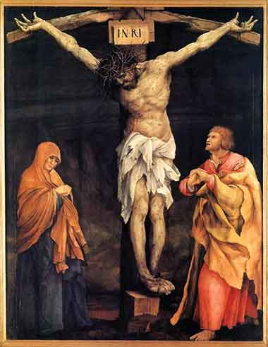 The Crucifixion</i> by Matthias Grunewald (German), ca. 1524.