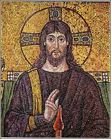Mosaic of Jesus Christ, from Ravenna, Italy