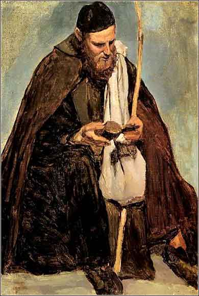 <i>Italian Monk Reading</i> by Camille Corot, ca. 1826.