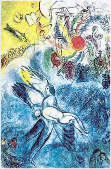 <i>The Creation of Man</i> by Marc Chagall, ca. 1956.