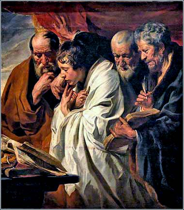 <i>Four Evangelists</i> by Jacob Jordaens, ca. 1630