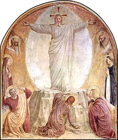 <i>Transfiguration</i> by Fra Angelico, ca. 1442.