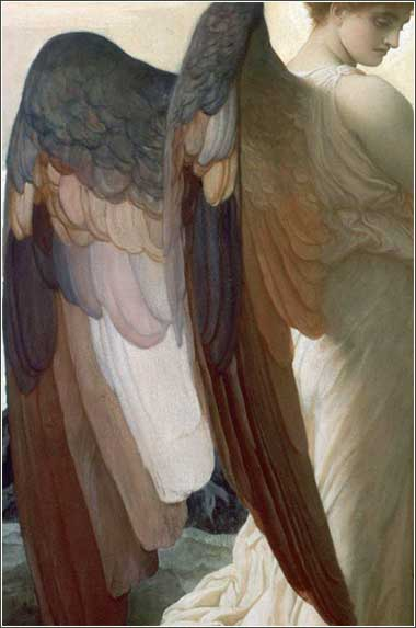 <i>Elijah in the Wilderness (detail)</i> by Frederic Leighton, ca. 1878.
