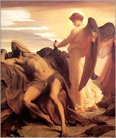 <i>Elijah in the Wilderness</i> by Frederick Leighton, ca. 1878.