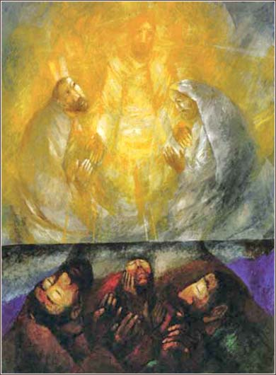 <i>Friends for Jesus</i>,  by Sieger Köder, ca. 2005.