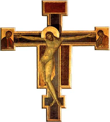 Crucifix by Giovanni Cimabue, ca. 1290.