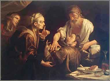 Isaac blessing Jacob by Gioacchino Assereto, 1640