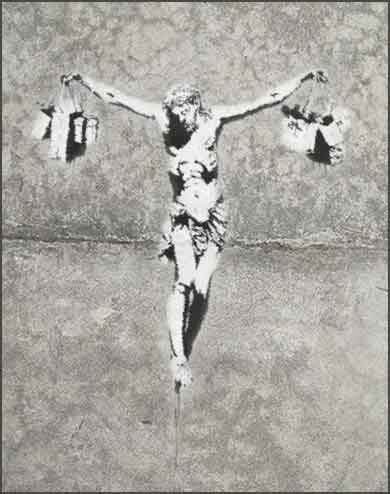 <i>Jesus Christ with Shopping Bags</i> by (the real) Banksy,