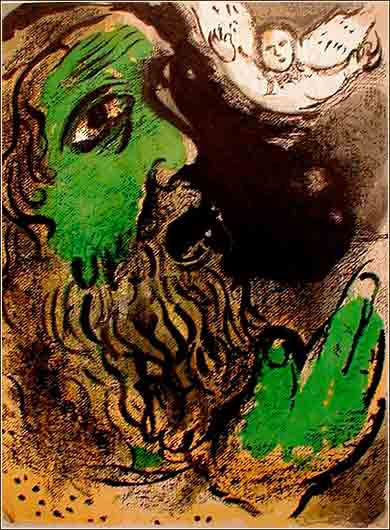Job at Prayer, Marc Chagall