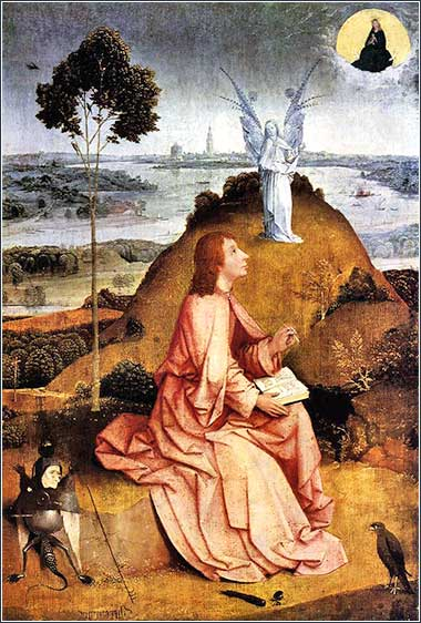 <i>St. John on Patmos</i> by Hieronymous Bosch, ca. 1489.