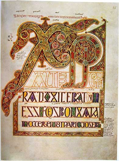 Illuminated Chi Rho Bible