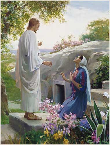 <i>Mary and the Resurrected Christ</i> by Harry Anderson, ca. 1955.